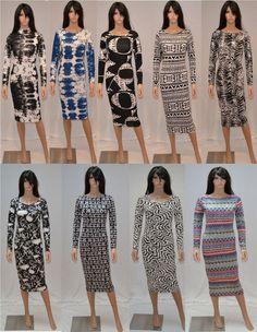 BNWT Womens Ladies Girls Full Sleeve Long Midi Dresses Dress Celebrity Fashion