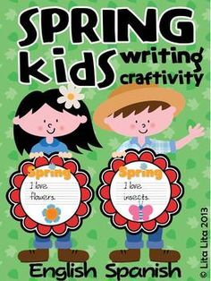 FREE           Spring Kids craftivity English-Spanish