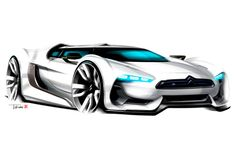 Citroen GT Concept Design Sketch