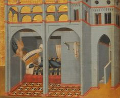 Pietro Lorenzetti, Pala del Carmine, dettaglio: Il sogno di Sobach #InvasioniDigitali il 27 aprile alle ore 16.00 Invasori: Amina Sabatini e Gaia Mini