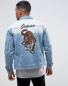 Liquor N Poker Denim Trophy Jacket Tiger - Blue 20267e919