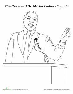 how to draw martin luther king step by step