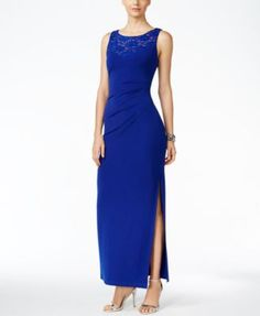 Connected Embellished Ruched Gown | macys.com