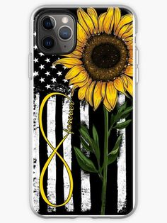 Forever American Flag Sunflower Phone Case for iPhone 5 5s SE 6 6s 7 8 Plus X XR XS Max, Samsung iPhone Case & Cover