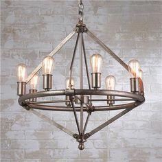 Lauren by Ralph Lauren Industrial Pipe Chandelier -8 light $799