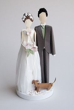 Custom made paper cake topper by Concarta