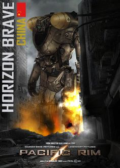 Pacific Rim - Horizon Brave by minanfranco Pacific Rim Jaeger, Arte Peculiar, Cool Robots, Mundo Comic, Robot Design, About Time Movie, King Kong, Celestial, Planer