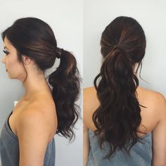 High curled ponytail #hairbykileypotter