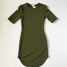 Olive bodycon dress As is shown in the picture. NWT. FINAL SALE. Brand new. It's a little longer on me that I would like. The material is very stretchy. Dresses