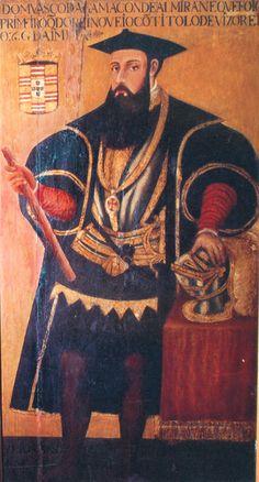 Vasco da Gama, in the Gallery of the Viceroys of the Portuguese State of India, in Goa.Vasco da Gama (pintura da Galeria dos Vice-reis do Estado da Índia, Goa Velha). 16th cent.