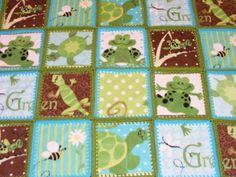 fleece and crochet quilt