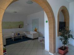 Read a book while relaxing at the comfortable lobby area.    #silverbeach #silverpatmos #patmos #grikosbay #grikos