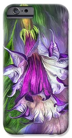 Angel's Trumpet designer phone case featuring the art of Carol Cavalaris.
