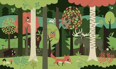 In the Forest - Green - Wall Mural & Photo Wallpaper - Photowall