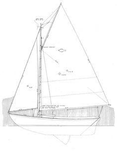 "20' 3"" Flatfish Class Sloop Designer:  Joel White Skill Level to Build…"