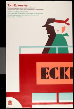 Tom Eckersley, London Transport Museum exhibition poster