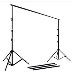 complete photography and video stuido watt softbox continuous lighting boom kit with black white muslin backgrounds and backdrop support