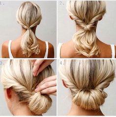 Easy hairstyle/ Peinado facil y rapido #hairstyle #peinados #cabello #hairbun