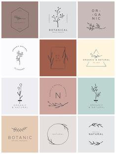 Organic product brand logo vector collection   premium image by rawpixel.com / sasi Logo Branding, 2 Logo, Product Branding, Product Logo, Branding Ideas, Logo Inspiration, Logo Floral, Flower Logo, Logo Design Flower