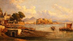 CONSALVO CARELLI    (NAPOLI, 1818 - NAPOLI, 1900)  - Pescatori a Mergellina.