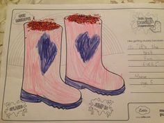 Maeve (age I like getting muddy because.I love jumping in muddy puddles because it's the Best Fun EVER! Design Competitions, Rain Boots, Age, Dolls, My Love, Baby Dolls, Puppet, Rain Boot, Doll