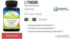 L Tyrosine for anxiety