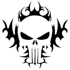 tribal-skull-stencil-for-Airbrush-Tattoo-craft-Art