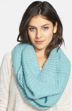 BP. Ribbed Infinity Scarf (Juniors) available at #Nordstrom in Blue Magazine or Black (really like the black one!)