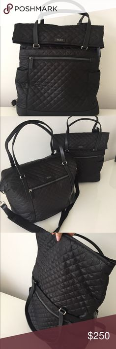 AMAZING TUMI BACKPACK/TRAVEL TOTE/TRAVEL BAG (NWT) 100% AUTHENTIC TUMI TRAVEL BAG - style is LEIGH FOLDOVER BACKPACK RETAIL $395 Tumi Bags Travel Bags
