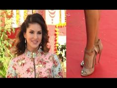 Sunny Leone somehow manage to walk with high heels | Mastizaade promotion.
