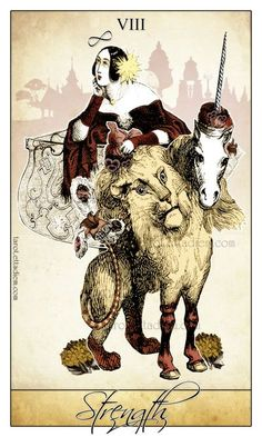 The Isidore Tarot Deck (A Neo Victorian Tarot deck): A beautiful & whimsical tarot featuring anthropomorphic characters in surreal Victorian scenes! This is an art collage style tarot that uses… Tarot Card Decks, Tarot Cards, Ink Illustrations, Illustration Art, Strength Tarot, Tarot Major Arcana, Daily Tarot, Cartomancy, Neo Victorian