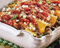 Black Bean Enchilada Casserole | The Daily Meal
