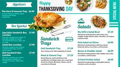 113 best digital menu boards images on pinterest in 2018 digital exclusive single color thanksgiving digital menu board design on dsmenu menu board design digital menu maxwellsz