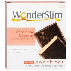 WonderSlim Protein Snack Bar Chocolate Coconut
