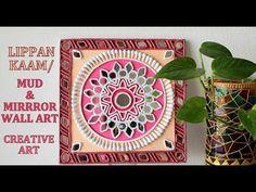 Mural Art, Wall Murals, Mirror Artwork, Indian Arts And Crafts, Glass Bottle Crafts, Madhubani Painting, Clay Art, Creative Art, Diy Wall