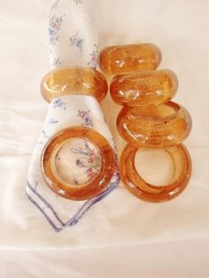 100% True Vintage Amber Glass Dish Amber Glass Year-End Bargain Sale Decorative Collectibles