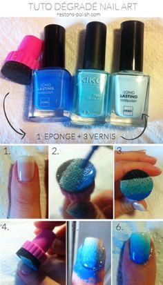 tuto gradient nail art - restons polish