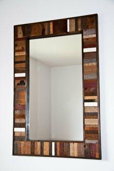 Custom Made Reclaimed Wood Mirror Frame 36 Mirror Frames, Mirror Frame Diy, Wood Mirror, Framed Mirror Wall, Mirror Design Wall, Home Decor, Wood Framed Mirror, Wood Shop Projects, Wood Picture Frames