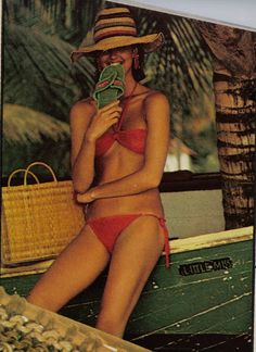 Janice Dickinson, 70s summer style.