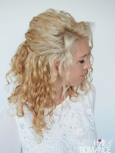 Hair Romance - 30 Curly Hairstyles in 30 Days - Day 6 - half twist