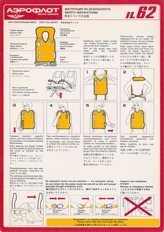 airline life vest instructions