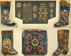 Leather mosaic