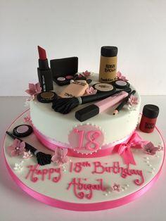 18th birthday makeup cake