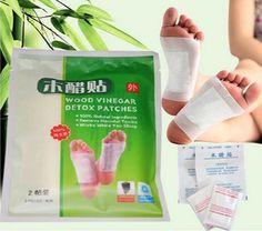 10pcs(5bag) Natural Wood Vinegar Foot Patch  Detox Foot Patches Improve Sleep Remove Harmful Toxins Health Care