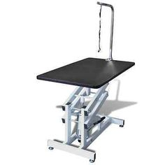 45-Hydraulic-Z-Lift-Grooming-Table-Pet-Dog-Groom-Height-Adjustable-w-Arm-Noose