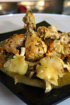 Κοτόπουλο με λεμονάτη σάλτσα και κίτρινα πλευρώτους από τον Βαγγέλη Δρίσκα