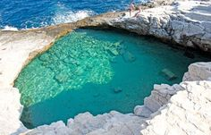 The Natural Swimming Pool Giola on the Greek Island of Thassos