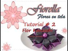 Aprende a hacer esta hermosa flor kanzashi, con el paso a paso, conoce detalles de como desarrollar esta hermosa técnica.