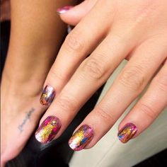 """Lea Michele's cool mani from her upcoming music video for """"On My Way"""""""