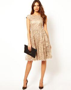 Coast | Coast Josette Dress with Tapework Embellishment at ASOS
